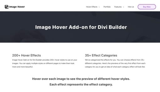 Divi Image Hover Add-on