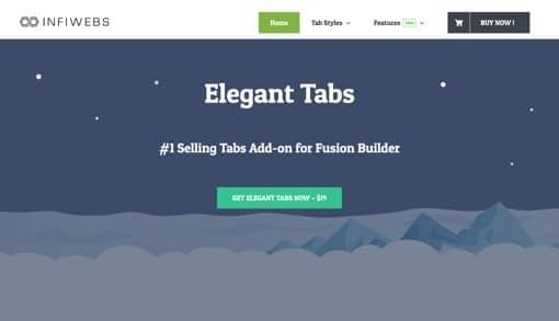 Fusion Builder Elegant Tabs
