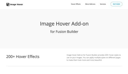 Fusion Builder Image Hover Add-on