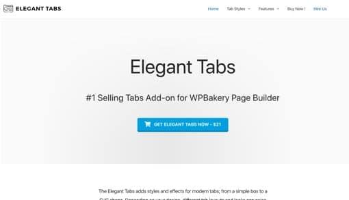 WPBakery Elegant Tabs